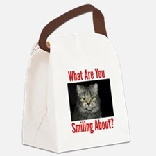 What Are You Smiling About Canvas Lunch Bag