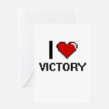 I love Victory digital design Greeting Cards