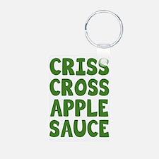 Criss Cross Applesauce Keychains