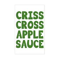 Criss Cross Applesauce Decal
