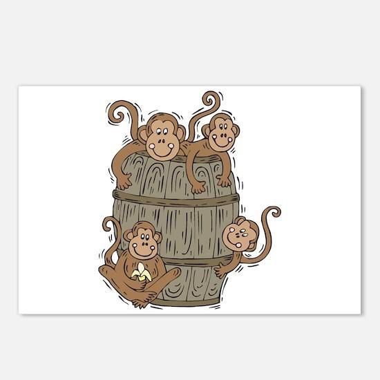 Cute Barrel of Monkeys Postcards (Package of 8)