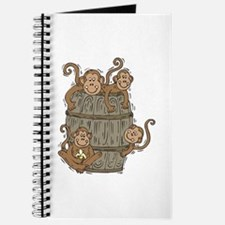 Cute Barrel of Monkeys Journal