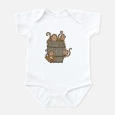 Cute Barrel of Monkeys Infant Bodysuit