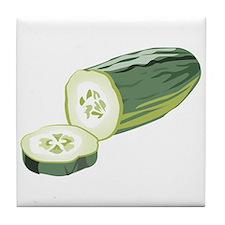 Cucumber Tile Coaster