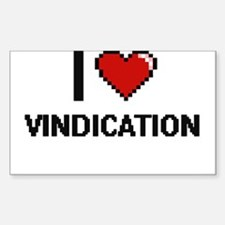 I love Vindication digital design Decal