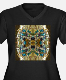 Beaded Pearl Essence Plus Size T-Shirt