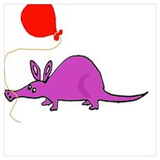 Funny Purple Aardvark Poster