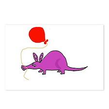 Funny Purple Aardvark Postcards (Package of 8)