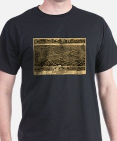 Vintage Pictorial Map of Birmingham (1885) T-Shirt
