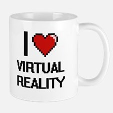 I love Virtual Reality digital design Mugs