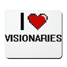 I love Visionaries digital design Mousepad