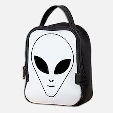 Alien face Neoprene Lunch Bag