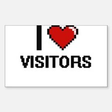 I love Visitors digital design Decal