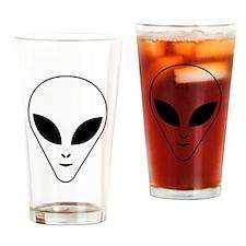 Alien face Drinking Glass