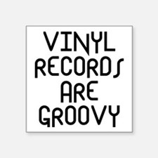 "Vinyl Records Square Sticker 3"" x 3"""