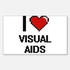 I love Visual Aids digital design Decal