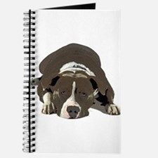 Sleepy Pit Bull look ahead Journal