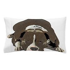 Sleepy Pit Bull look ahead Pillow Case