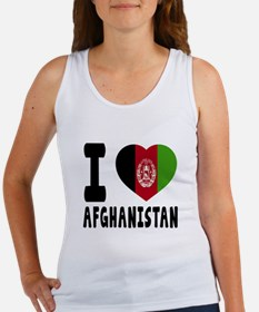 I Love Afghanistan Women's Tank Top