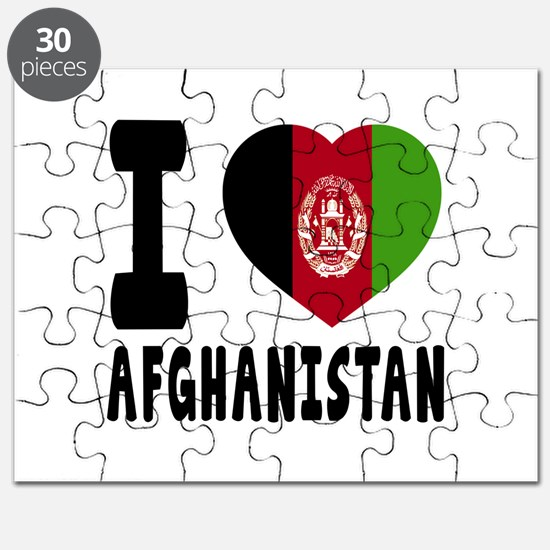 I Love Afghanistan Puzzle