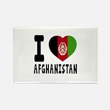 I Love Afghanistan Rectangle Magnet