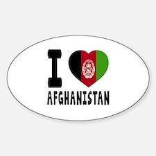 I Love Afghanistan Sticker (Oval)