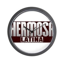 Hermosa Latina Wall Clock