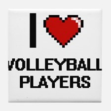 I love Volleyball Players digital des Tile Coaster