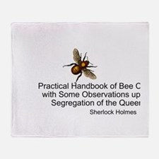 Sherlock's Bees Throw Blanket