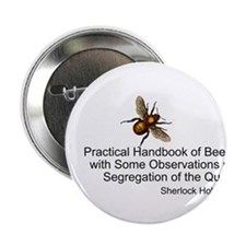 "Sherlock's Bees 2.25"" Button"