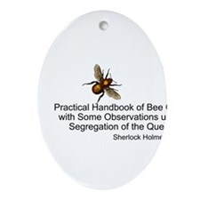 Sherlock's Bees Oval Ornament