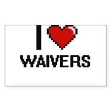 I love Waivers digital design Decal