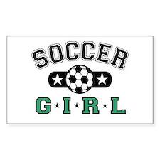 Cute Woman soccer Decal