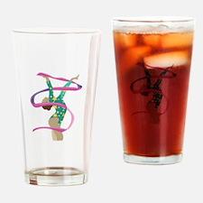 Ribbon Gymnast Drinking Glass