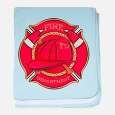 Firefighter Badge baby blanket