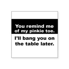 "Cool Table Square Sticker 3"" x 3"""
