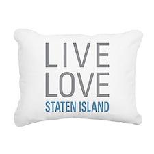 Live Love Staten Island Rectangular Canvas Pillow
