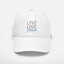 Live Love Staten Island Baseball Baseball Cap