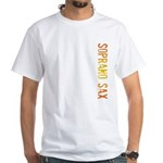 Soprano Sax Stamp White T-Shirt