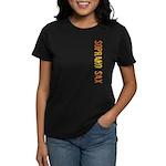 Soprano Sax Stamp Women's Dark T-Shirt