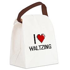I love Waltzing digital design Canvas Lunch Bag