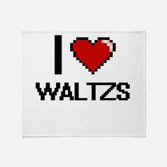 I love Waltzs digital design Throw Blanket