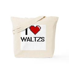 I love Waltzs digital design Tote Bag