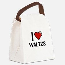 I love Waltzs digital design Canvas Lunch Bag