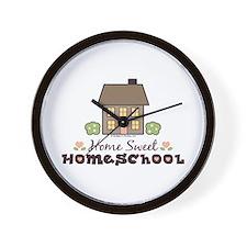 Home Sweet Homeschool Wall Clock Gift