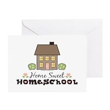 Home Sweet Homeschool Blank Greeting Cards 10 Pk
