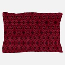 Ornate Red Gothic Pattern Pillow Case