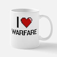 I love Warfare digital design Mugs