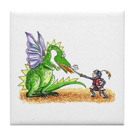 Brave Knight Tile Coaster
