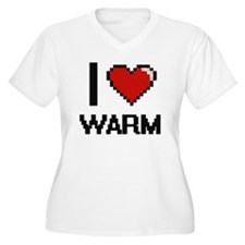 I love Warm digital design Plus Size T-Shirt